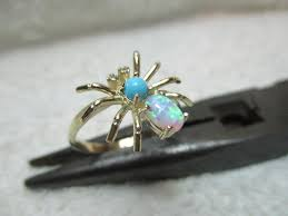 turquoise opal pretty vintage 9ct gold 4 stone opal turquoise cubic zirconia