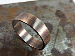 rustic mens wedding bands bronze ring rustic wedding ring 4mm or 5mm wide ring band