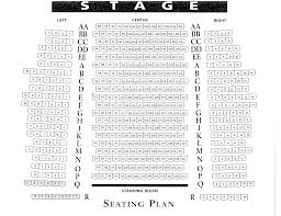 theatre floor plan seating charts