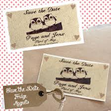 Save The Date Wedding Magnets Owl Themed Save The Date Magnets Velveteen Days