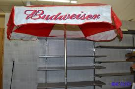Budweiser Patio Umbrella Budweiser Patio Umbrella March Consignment K Bid