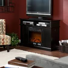 Black Electric Fireplace Martin Fenton Media Electric Fireplace Black