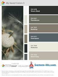 i just created this color palette with the sherwin williams