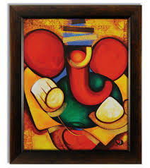 Canvas Without Frame Ganesha Paintings Modern Art On Canvas Buy Stybuzz X3cb X3ecanvas