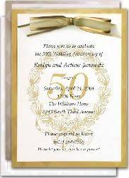 50th wedding anniversary invitations 50th golden wedding anniversary invitations gold wedding