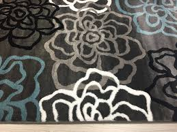 Modern Contemporary Rug Rugshop Contemporary Modern Floral Flowers Area Rug 2