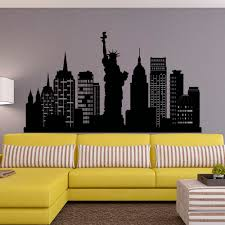 26 nyc wall decals wall vinyl decal 30 00 size 36 x 23 new york new york city skyline wall decal nyc silhouette new york wall