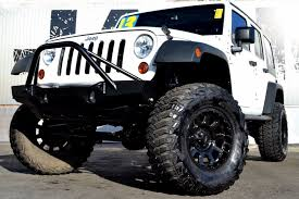 jeep wrangler unlimited wheel and tire packages 2013 used jeep wrangler unlimited upgraded suspension road