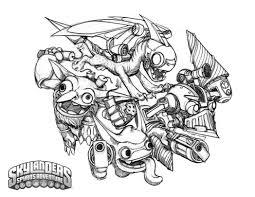 crabfu blog skylanders speed drawing coloring pages 837052