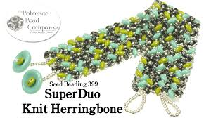 youtube beads bracelet images Make a superduo knit herringbone bracelet jpg
