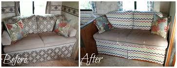sofa slipcover diy vintage dutch travel trailer makeover part 7 chevron