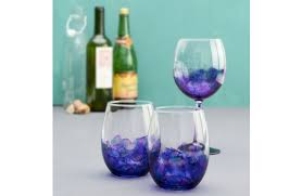 painted wine glasses a c