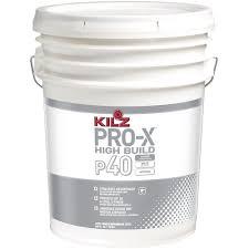 kilz pro x 5 gal white flat interior high build sprayable primer