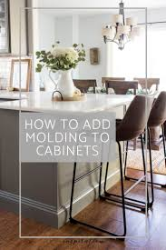 how to cabinets how to add molding to cabinets for a gorgeous finish