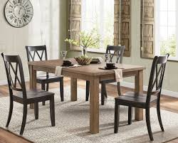 janina pine natural tone dining room set from homelegance
