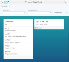 create your own custom card in a sap fiori overview page u2013 erp