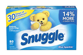 snuggle fabric softener dryer sheets blue sparkle 80 ct