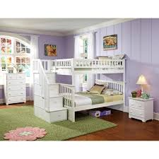 Kids Bunk Beds Twin Over Full by Atlantic Furniture Columbia Staircase Full Over Full Bunk Bed
