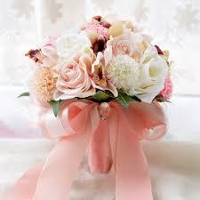 silk flowers for wedding handmade silk flower wedding bouquet dahlia artificial