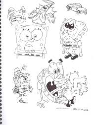 spongebob pen doodles by spongefox on deviantart