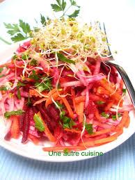 cuisiner betterave crue salade betterave crue chou carottes alfafa une autre cuisine