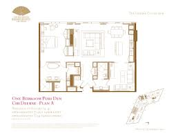 Panorama Towers Las Vegas Floor Plans by One Bedroom Plus Den Floor Plans The Mandarin Oriental Las Vegas