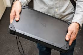 Dell Rugged Dell U0027s New Rugged Tablet Is A Clunky Giant That Runs Windows 7