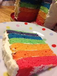 recipe junkie and the attack of the custard creams rainbow cake