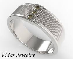 rings design for men men s fancy chocolate brown diamond wedding band vidar jewelry