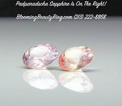 padparadscha sapphire engagement ring padparadscha sapphires blooming ring