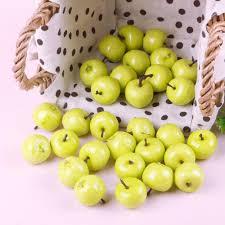 Kitchen Apple Decor by Amazon Com 30pcs Fake Green Mini Apples Plastic Artificial Fruit