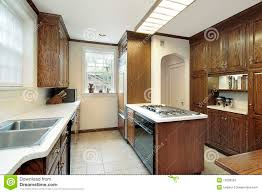 kitchen stove top home appliances decoration kitchen with stove top island stock photography