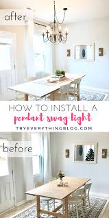 how to hang a pendant light with a cord how to install a pendant light fixture and swag it try everything