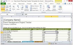 Project Tracker Template Excel Free Free Event Planning Tracker Template For Excel