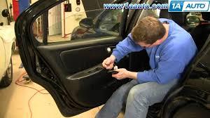 nissan maxima quarter panel how to remove install rear door panel 2000 03 nissan maxima youtube