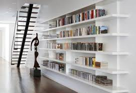 modern home library interior design book shelves for personal library decorating and design in style