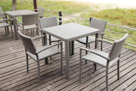 Restaurant Patio Tables by Outdoor Restaurant With Tables And Chairs In Resort Stock Photo
