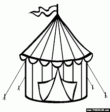 circus tent coloring page aecost net aecost net