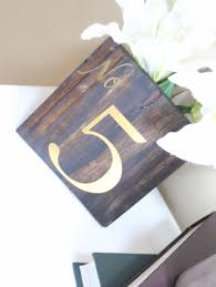 silver wedding table numbers wooden table number silver foil wedding table numbers gold foil