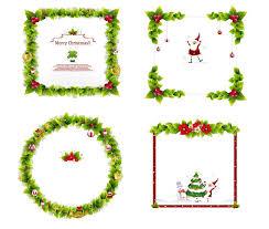 4 christmas wreath border vector free vector 4vector