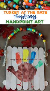 turkey at the gate thanksgiving handprint art handprint art
