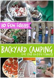Backyard Kid Activities by Super Fun Ideas For Camping In Your Backyard With Kids Shhh