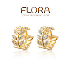 gold earring studs designs earrings designs in gold beautify themselves with earrings