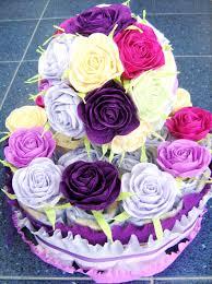 baby shower decor diaper cakes purple lavander pink