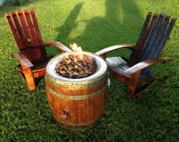 wine barrel fire table creating unique items from recylced wine barrels by awineofakind