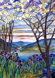 stained glass paintings painting stained glass frank memorial window by donna walsh