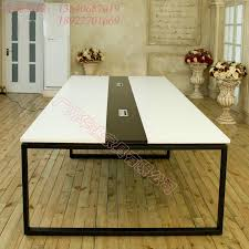 Frosted Glass Conference Table Table Long Table Minimalist Modern Office Furniture Conference