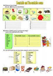 Countable And Uncountable Nouns Teaching Worksheet Countable Uncountable Nouns