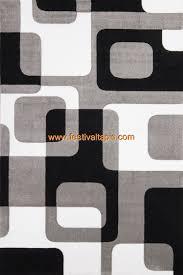 tapis de cuisine design tapis effet 3d look tendance et design gris noir