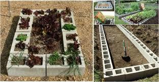 diy raised garden bed with cinder block video beesdiy com